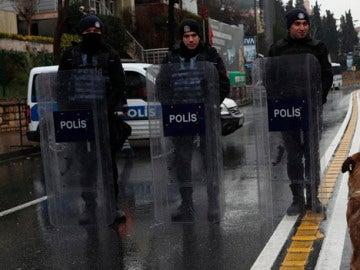 Dispositivo policial en Estambul