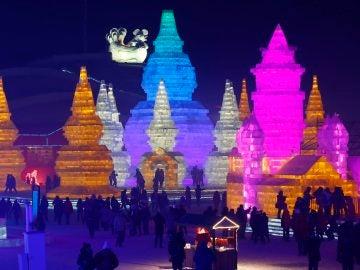 Esculturas de hielo en el Festival de Harbin