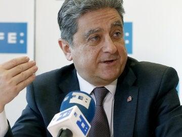 El delegado del Gobierno en Cataluña, Enric Millo, durante una entrevista con Efe