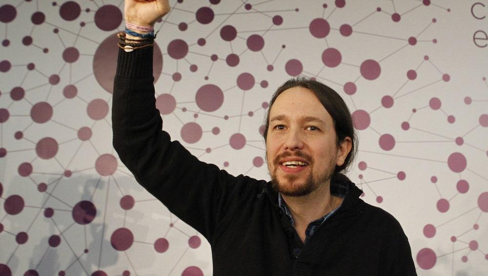 El líder de Podemos, Pablo Iglesias, mantiene un encuentro con 300 de sus seguidores más activos en redes sociales
