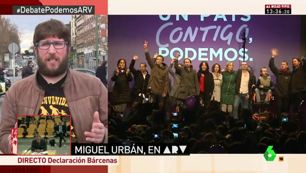 """Frame 308.493061 de: Miguel Urbán: """"Iglesias tendría que dejar de ser secretario general si alguien le gana en primarias"""""""