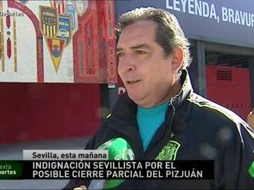 Frame 20.164444 de: La afición del Sevilla indignada por un posible cierre parcial del Sánchez Pizjuán