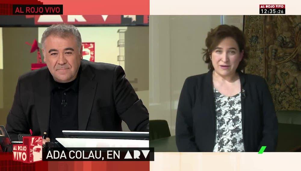 La alcaldesa de Barcelona, Ada Colau, en ARV