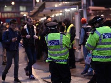 Agentes de la Policía británica