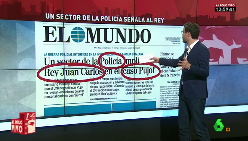 Frame 5.934011 de: Un sector de la Policía vincula al rey Juan Carlos con el caso Pujol