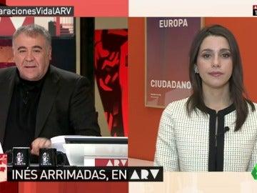 """Frame 4.526067 de: Arrimadas, sobre las declaraciones de Vidal: """"El uso de datos personales para la independencia no sería nuevo"""""""