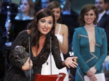 La cantante Silvia Pérez Cruz, con el Goya a 'Mejor canción original'