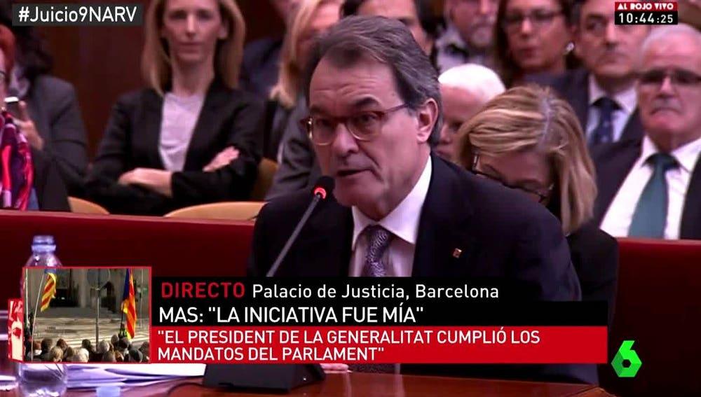 Artur Mas en el juicio del 9N