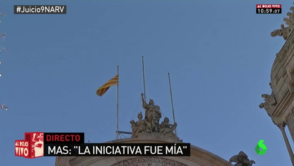 Banderas en el Tribunal de Justicia de Cataluña