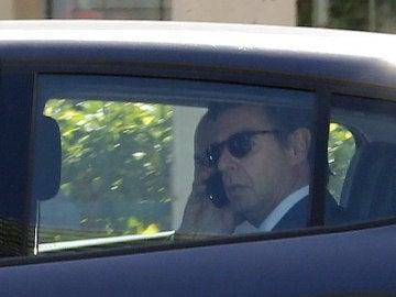 José Manuel Soria abandona en coche el Juzgado de Instrucción número 6 de Las Palmas de Gran Canaria