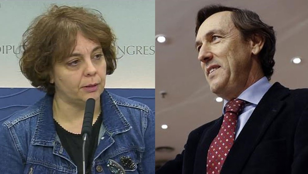 Rafael Hernando y Gloria Erizo