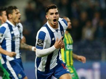 Andre Silva celebrando un gol