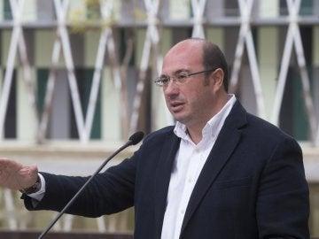 El secretario general del Partido Popular en la Región de Murcia (PPRM) y presidente de la Comunidad Autónoma de Murcia, Pedro Antonio Sánchez