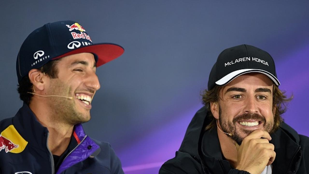Ricciardo y Alonso, en rueda de prensa