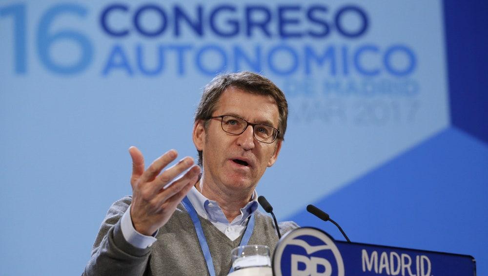 Alberto Núñez Feijoó en el XVI Congreso del PP de Madrid