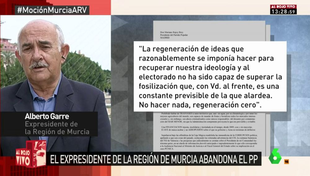 Alberto Garre, expresidente de Murcia