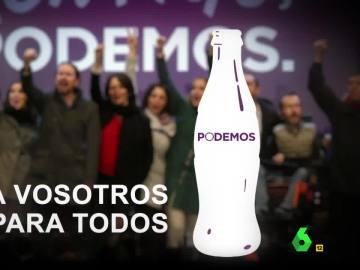 El anuncio de Podemos al más puro estilo Coca-Cola