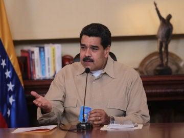 Nicolás Maduro durante una reunión de alto nivel