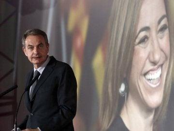 Zapatero en el homenaje a Carme Chacón