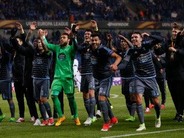 El Celta de Vigo celebra su pase a semifinales de la Europa League