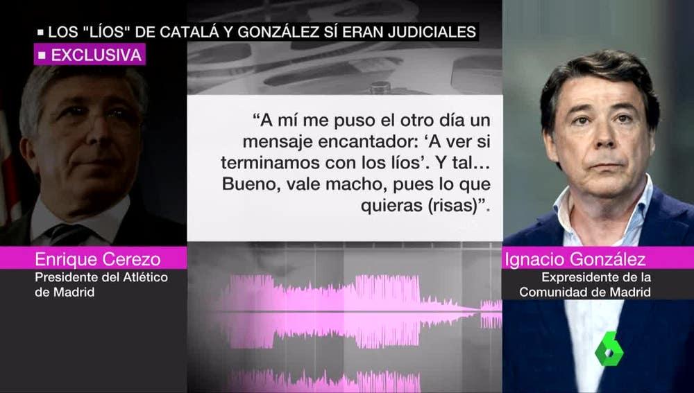 Conversación de Enrique Cerezo e Ignacio González