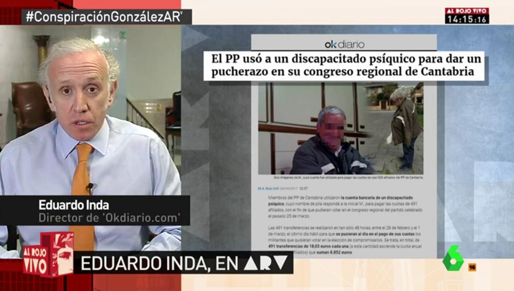 Frame 20.859839 de: El PP usa a una persona con discapacidad psíquica para ganar un congreso regional en Cantabria