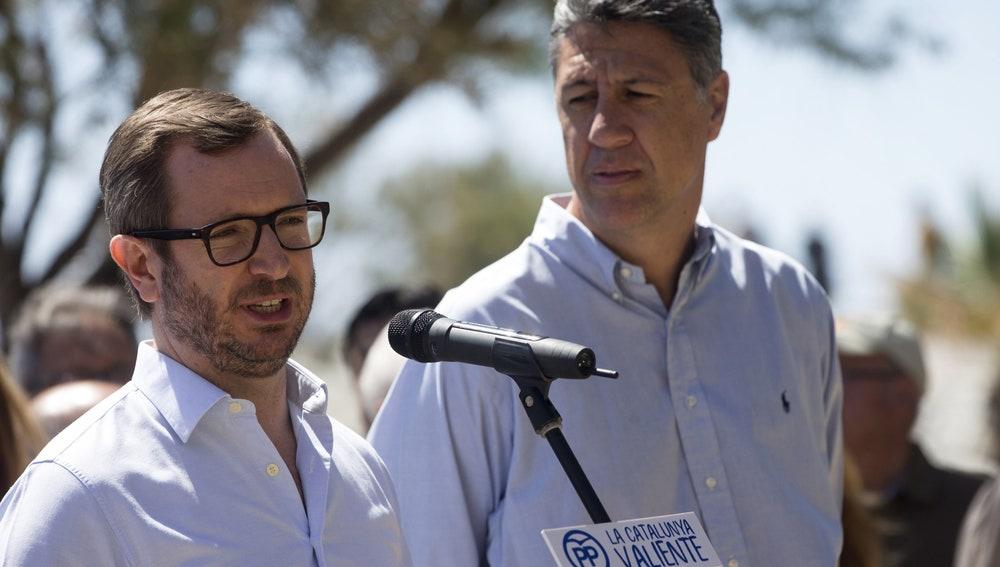 Javier Maroto y Xavier García Albiol dan el pistoletazo de salida oficial de la campaña popular