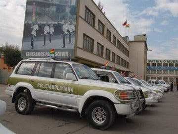 Coche de policía en Bolivia