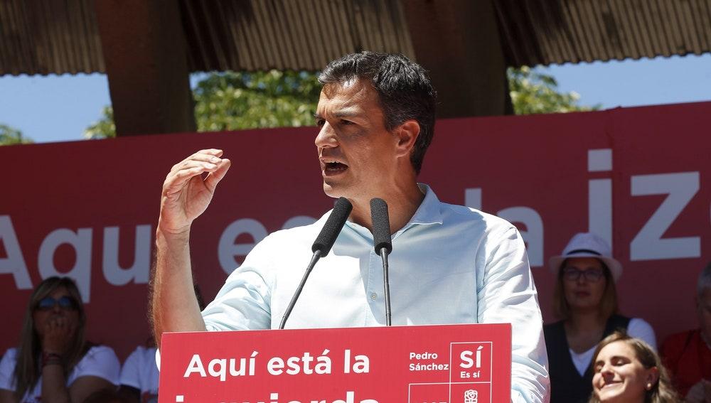 El exsecretario general del PSOE y candidato a las primarias del partido, Pedro Sánchez