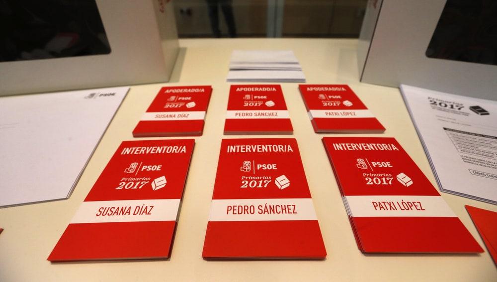 Preparativos en la sede del PSOE en Ferraz para la jornada electoral