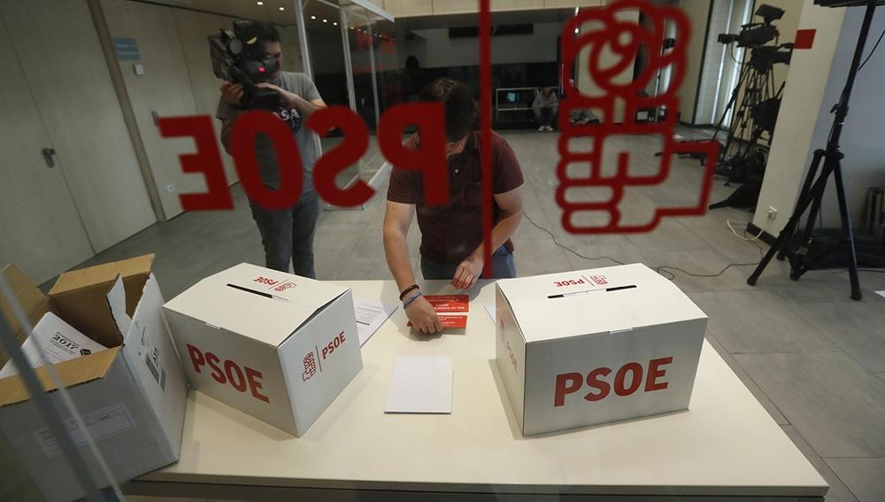 Imagen de las urnas de las primarias del PSOE