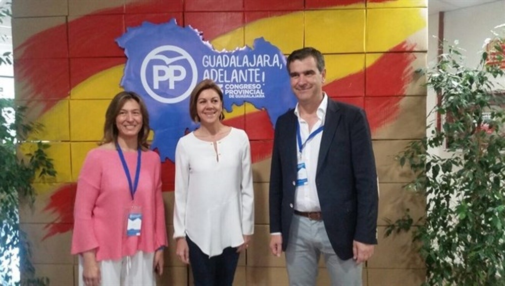 Cospedal en el congreso del PP en Guadalajara
