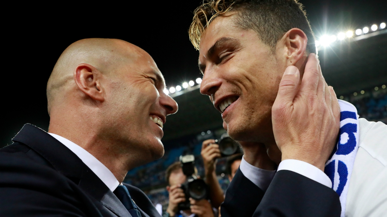 Zidane, con Cristiano Ronaldo