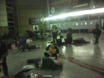 Momentos posteriores al atentado en Manchester