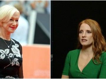 Las actrices Helen Mirren y jessica chastain