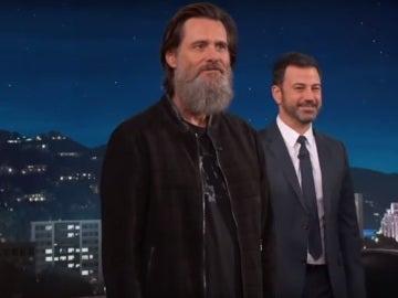 Jim Carrey, en el show de Jimmy Kimmel
