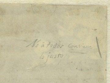 Manuscrito de Goya