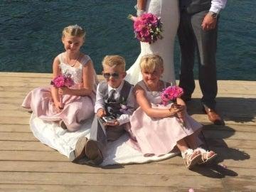 Celebración de la boda en Grecia