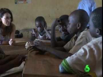 Los alumnos de un colegio de Global Humanitaria