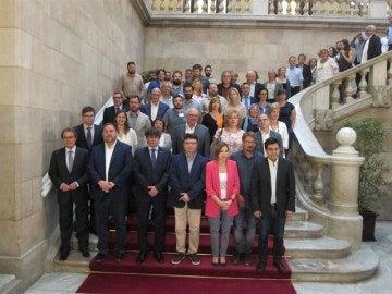 Joan Josep Nuet arropado por el independentismo y los 'comuns'