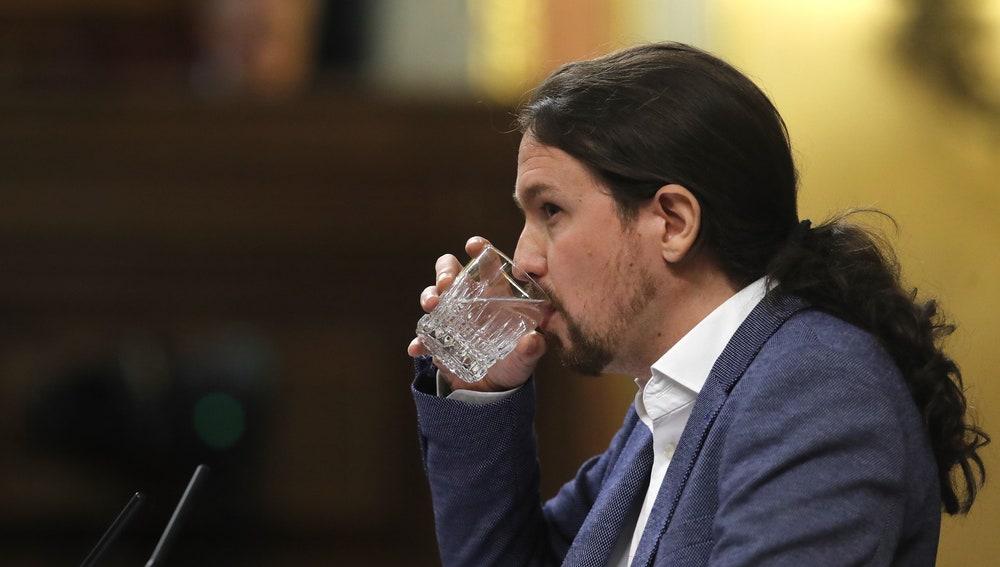 Pablo Iglesias en el debate de la moción de censura a Rajoy