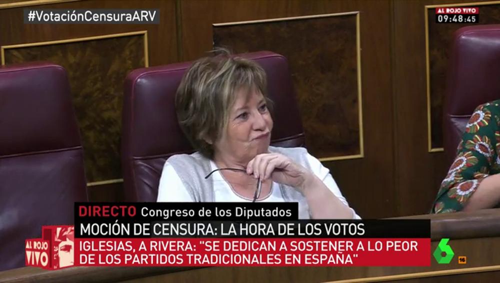 Celia Villalobos en el debate de moción de censura