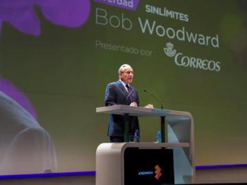 Bob Woodward durante la ponencia en MABS2017