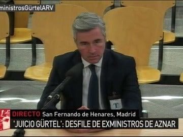 Ángel Acebes declara en el juicio Gürtel como testigo