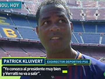 Patrick Kluivert, exjugador del Barcelona