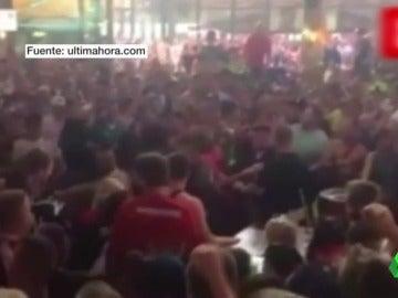 El enfrentamiento de medio centenar de turistas alemanes en Palma