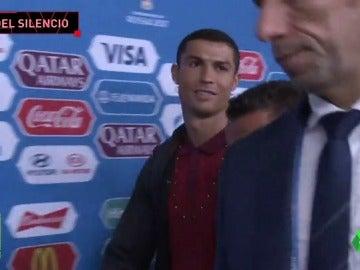 Cristiano Ronaldo mantiene la ley del silencio: con esta cara abandonó la Confederaciones