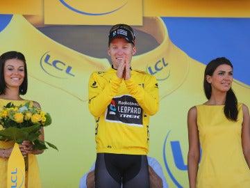 Bakelants, en el podio del Tour
