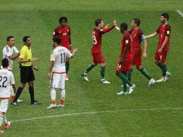 Portugal celebra el triunfo ante México