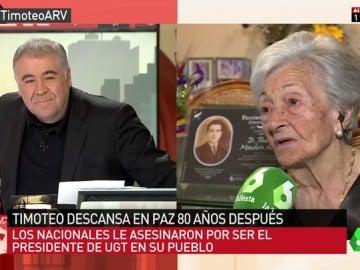 Ascensión Mendieta charla con Antonio Gracia Ferreras